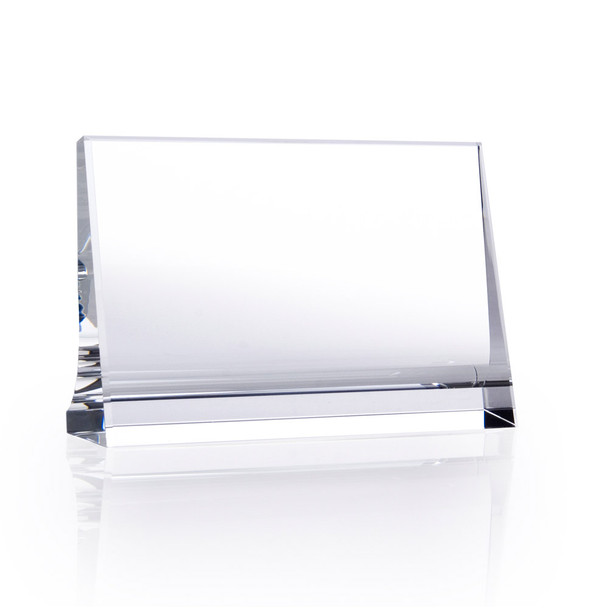 CRYSTAL HORIZONTAL PLAQUE,3 sizes available, engraved crystal
