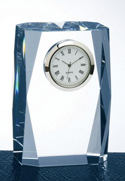 OPTICAL CRYSTAL FANTASY COLUMN CLOCK