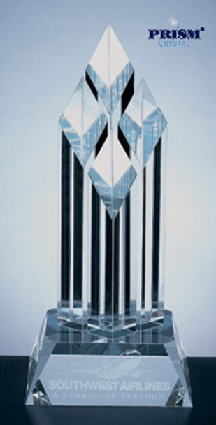 SUPERIOR DIAMOND AWARD (CLEAR CRYSTAL SLANT BASE)