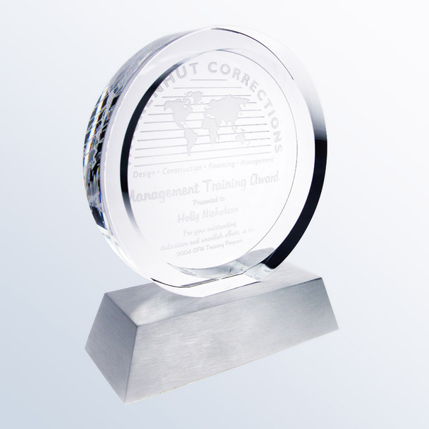 Circular Achievement Crystal Award