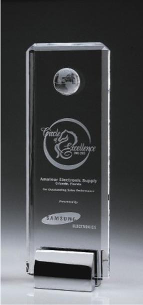 Crystal Tower Award w/Globe