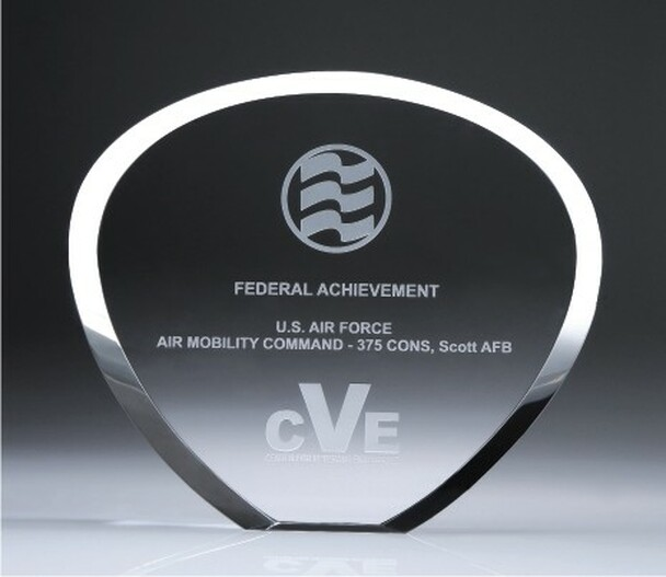 Shell Plaque Crystal Award