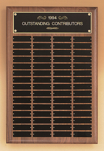 American Walnut Perpetual Plaque, Laser engraved