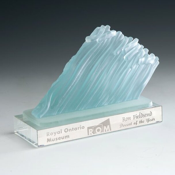 Iceberg recycled glass award