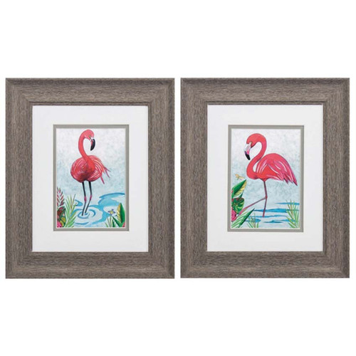 Propac Images, Vivid Flamingos, set of 2, framed art