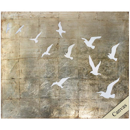 Propac Images, Fly Away, white doves soaring into a golden sky, on canvas