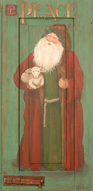 Red Horse Signs, Santa Peace, a classic St. Nicholas in red costume