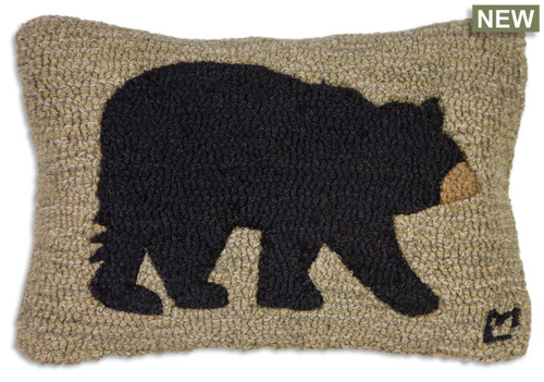 Big Bear Chandler 4 Corners hooked wool throw pillow