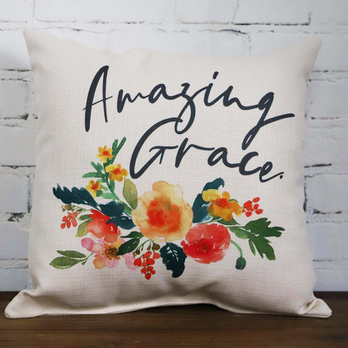 Amazing Grace Camille throw pillow The Little Birdie