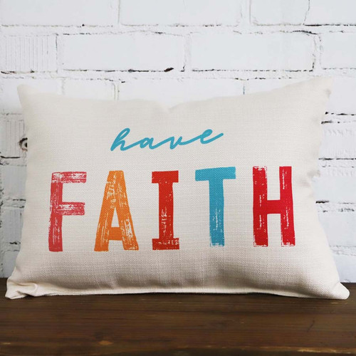 Have Faith The Little Birdie throw pillow