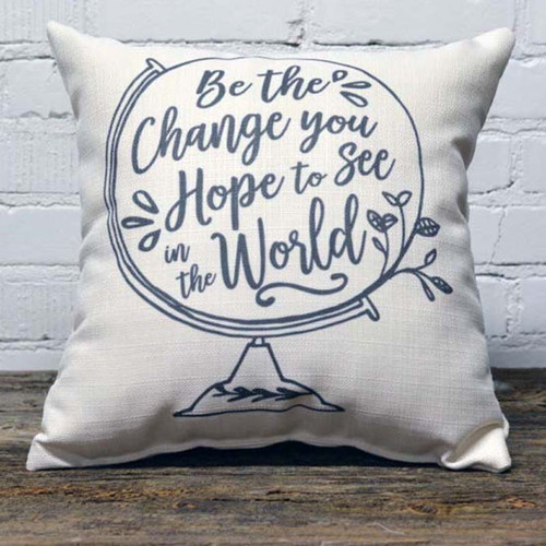 Be the Change throw pillow The Little Birdie
