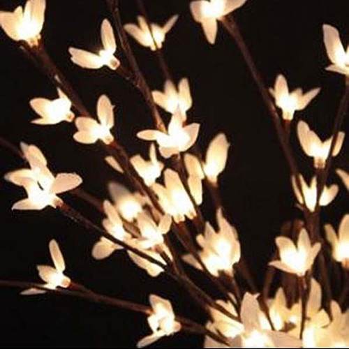 white forsythia light garden illuminated floral 20 inch 60 leds display