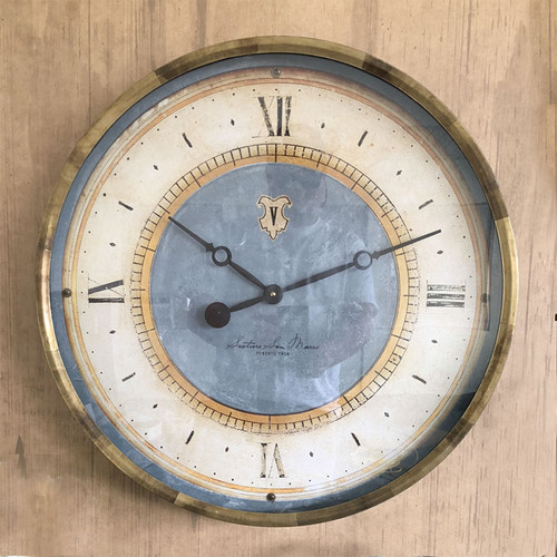 Caffe Venezia, azure, 23 inch Trademark Time Clocks,  outer frame antiqued copper sheet metal, San Marco Sestiere is the most famous of the six districts in Venice due to the square of the same name and the cathedral, Caffe Venezia is the place to meet