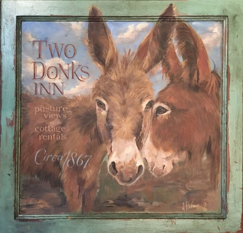 Two Donks Inn, Red Horse Signs, by artist Terri Palmer