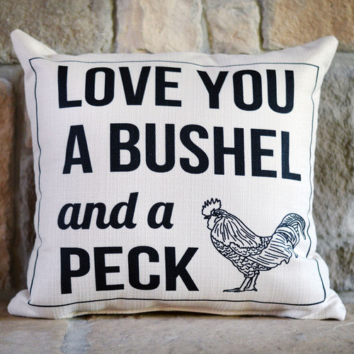 Love you a bushel and a peck, throw pillow by the Little Birdie