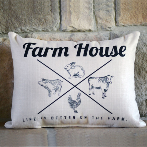 Life is Better at the Farm House Little Birdie Pillow