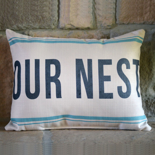Our nest is blessed Little Birdie Throw Pillow