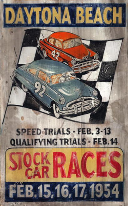 Stock Car Daytona Beach Red Horse Signs