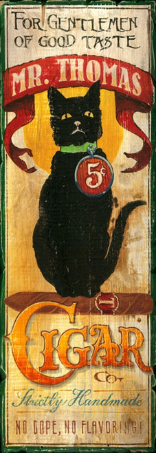 Mr Thomas Black Cat Cigar Red Horse Signs