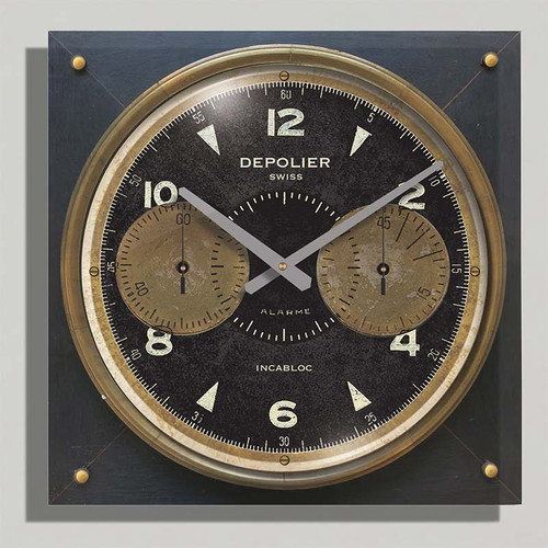 Chronograph Cream 18 inch wood case by Trademark Time Co.