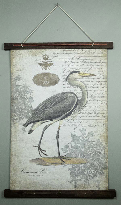 Canvas Wall Art Common Heron 393, Red Horse Signs
