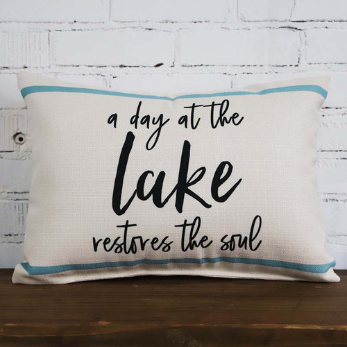 a day at the lake little birdie pillow