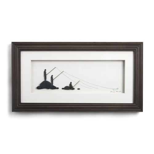 Our Fishing Spot by Sharon Nowlan, framed and matted