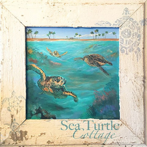 Sea Turtle Cottage by Terri Palmer and Red Horse Signs on wood