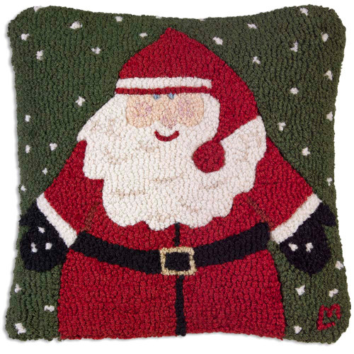 Happy Santa Chandler 4 Corners throw pillow
