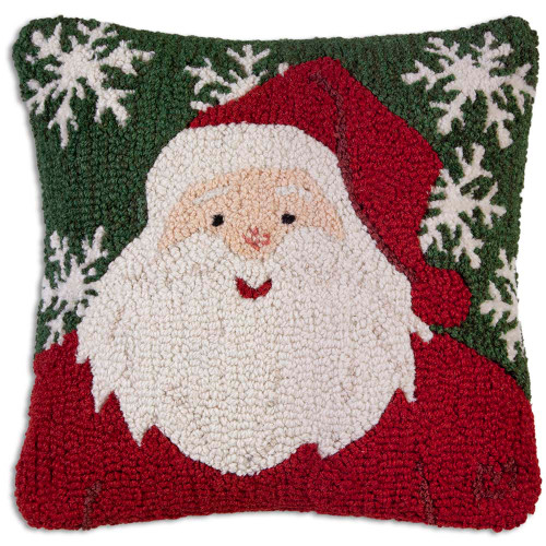 Winter Santa Chandler 4 Corners throw pillow