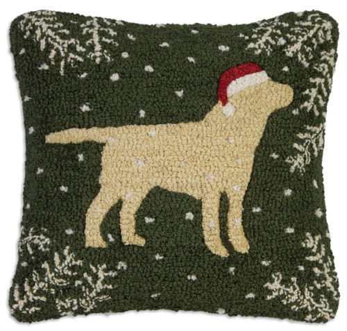Christmas Yellow Lab Chandler 4 Corners throw pillow