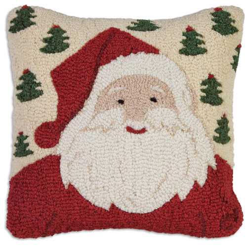 Jolly Ole Santa Chandler 4 Corners throw pillow