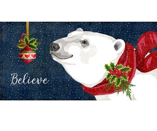 polar bear christmas, red horse signs, vintage art on wood