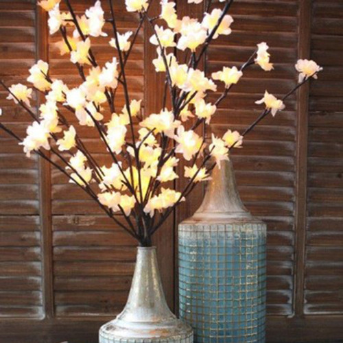 Light Garden Illuminated white plum floral with 96 LEDs