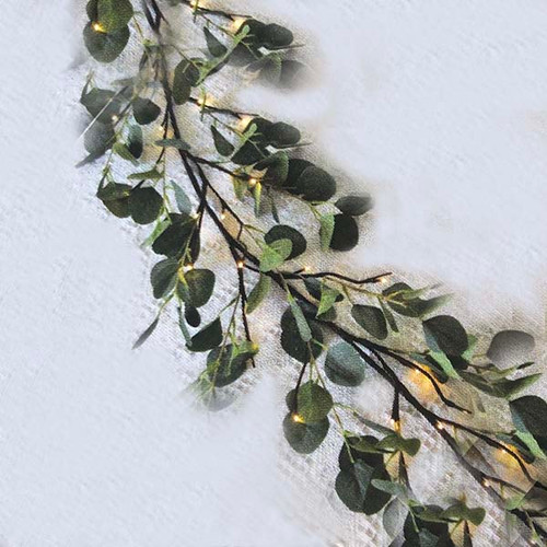 Eucalyptus illuminated garland, The Light Garden, 48 LEDs