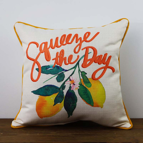 Squeeze the Day pillow The Little Birdie
