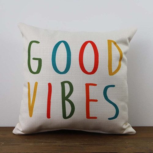 Good Vibes pillow, The Little Birdie.