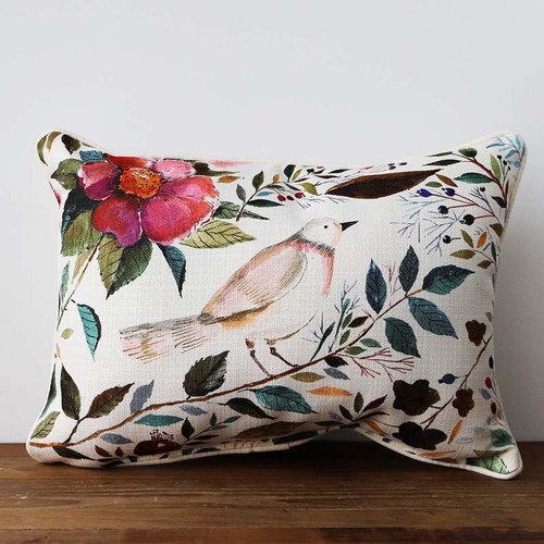 Floral Bird pillow, The Little Birdie