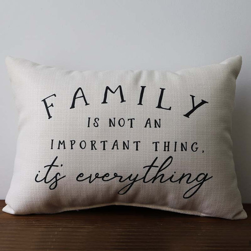 Family is Everything pillow, The Little Birdie