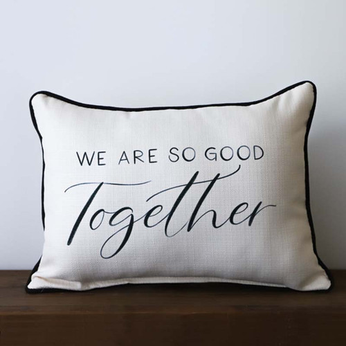 We Are So Good Together pillow, The Little Birdie