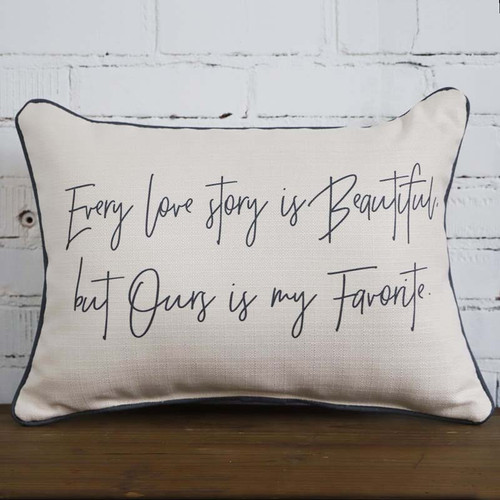 Every Love Story, rectangular pillow, The Little Birdie