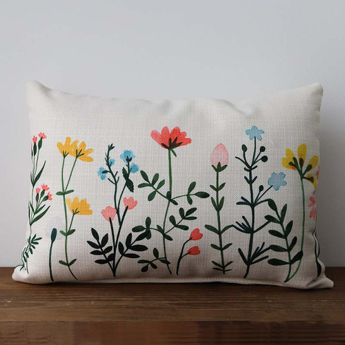 Wildflower pillow, rectangle, The Little Birdie