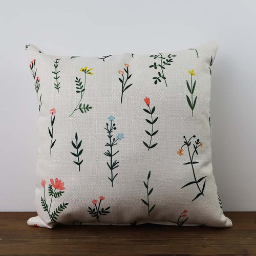 Botanical Wildflower pillow, The Little Birdie