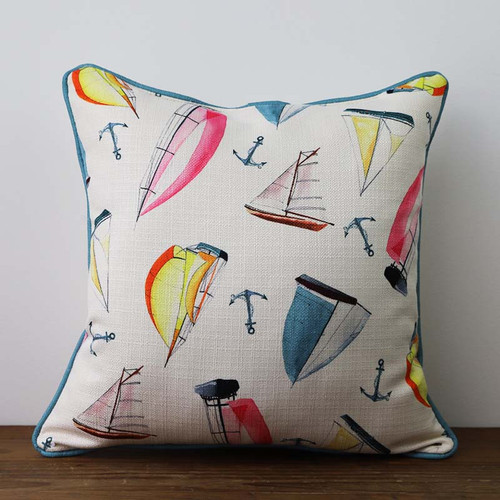 Sailboat pattern pillow, The Little Birdie