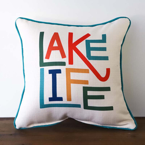 Lake Life pillow, The Little Birdie