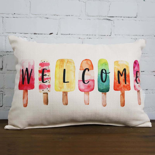 Welcome Popsicle Pillow