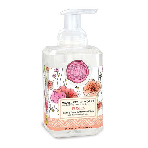 Posies  Hand Foaming Pump Soap Michel Design