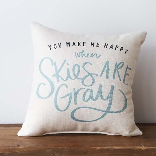 When Skies are Gray, Little Birdie throw pillow