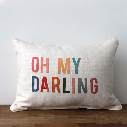 Oh My Darling, Throw Pillow, Little Birdie