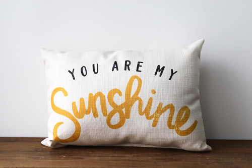 you are my sunshine throw pillow little birdie
